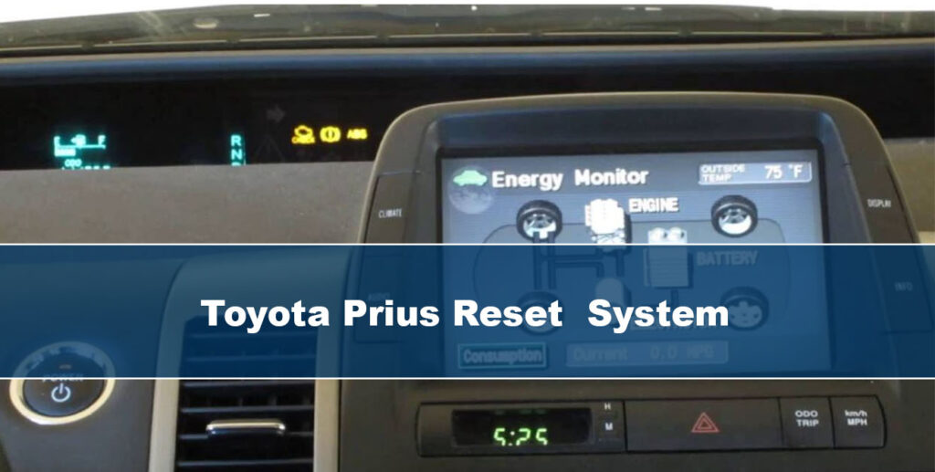 how to reset maintenance light on toyota prius
